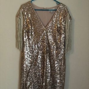 1X Forever 21 Plus Sequined Body Con Dress